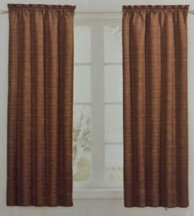 2 Panels 52x84 Maroon Red Sundown by Eclipse Room Darkening curtains