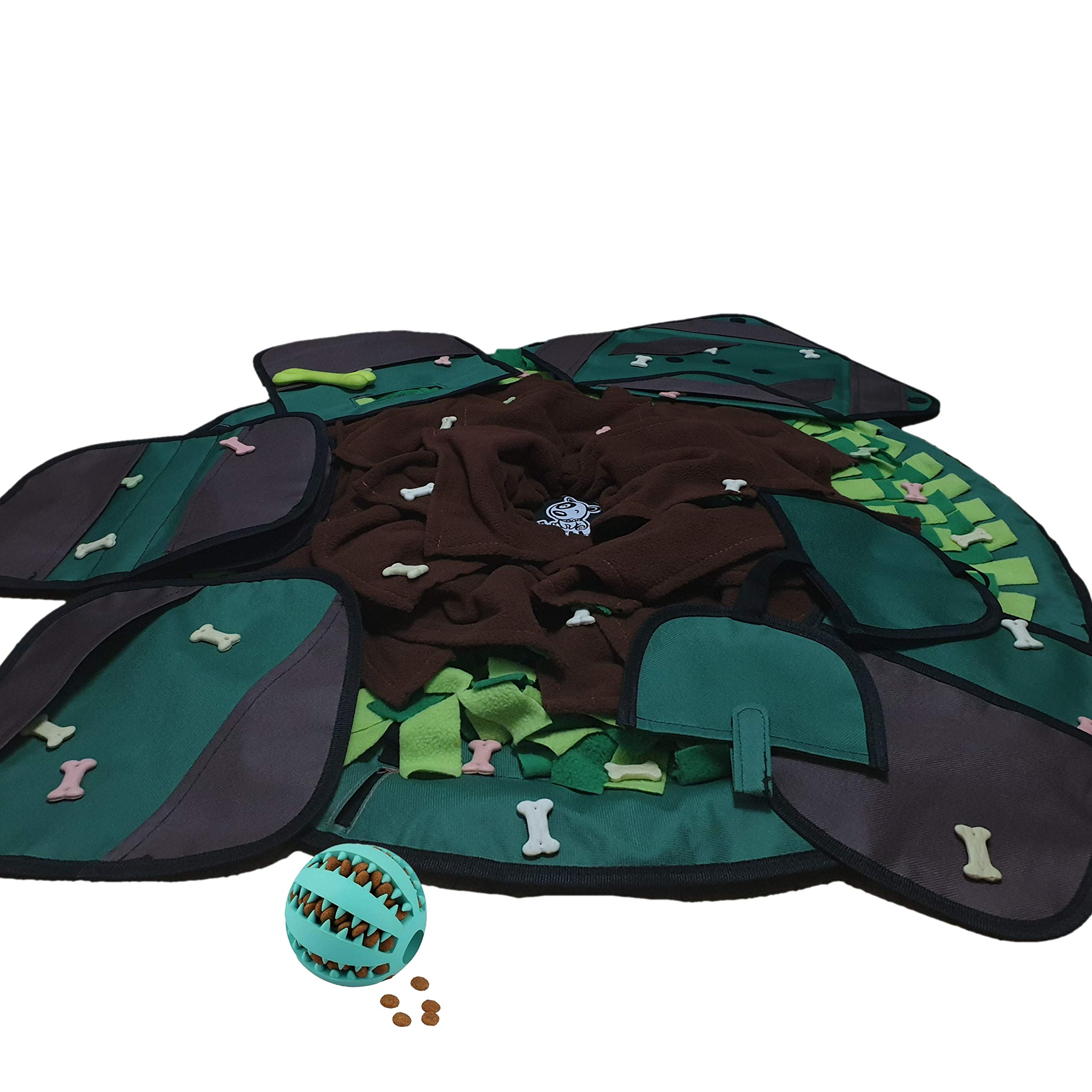 Dog Food Mat 2019 - Interactive Feeding Snuffle Mat for Pets - Puzzle Toy Slow Feeder Mat - Brain & Smell Stimulating - Practical & Safe - Relieves Stress & Anxiety with - for Small&Midium Sized Dogs by BYBELLA Dog Snuffle Mat