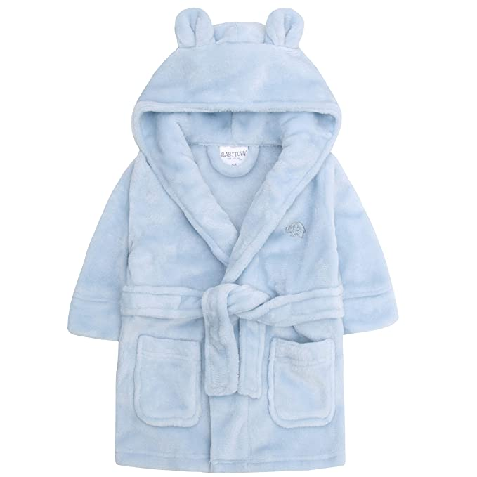 77a242be8 Amazon.com: Baby Boys & Girls Unisex Dressing Gown (Ages 6-24 Months ...