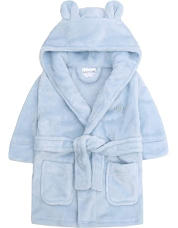 Clothing Shoes Accessories Personalised Baby Bath Robe Dressing Gown House Coat Embroidered Teddy Ears New Boys Sleepwear Sizes 4 Up