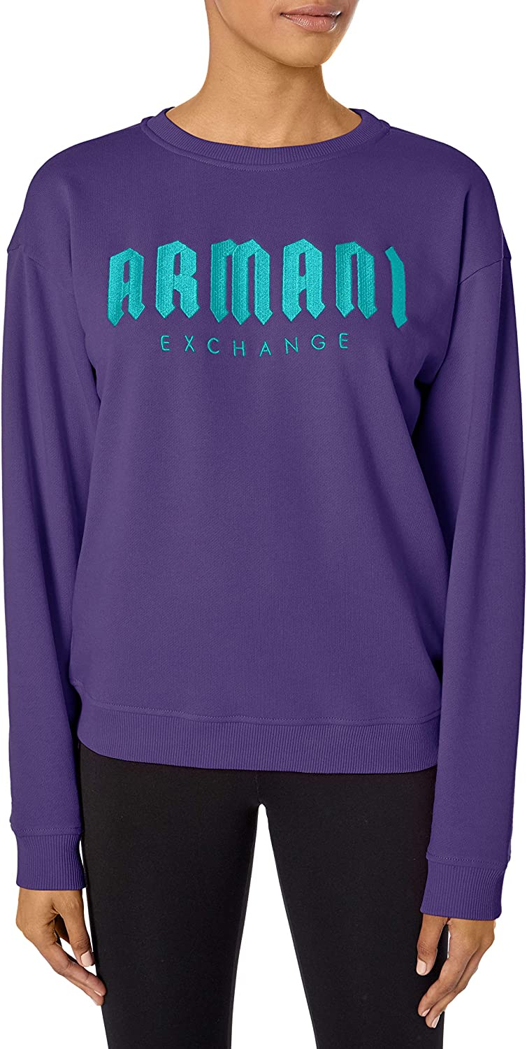 AX Armani Exchange Women's Classic Long Sleeved Pullover