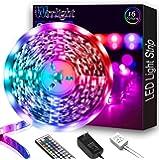 Led Strip Lights, Waterproof 16.4ft 5m Flexible Led Lights Color Changing RGB SMD 5050 150leds LED Strip Light Kit with…
