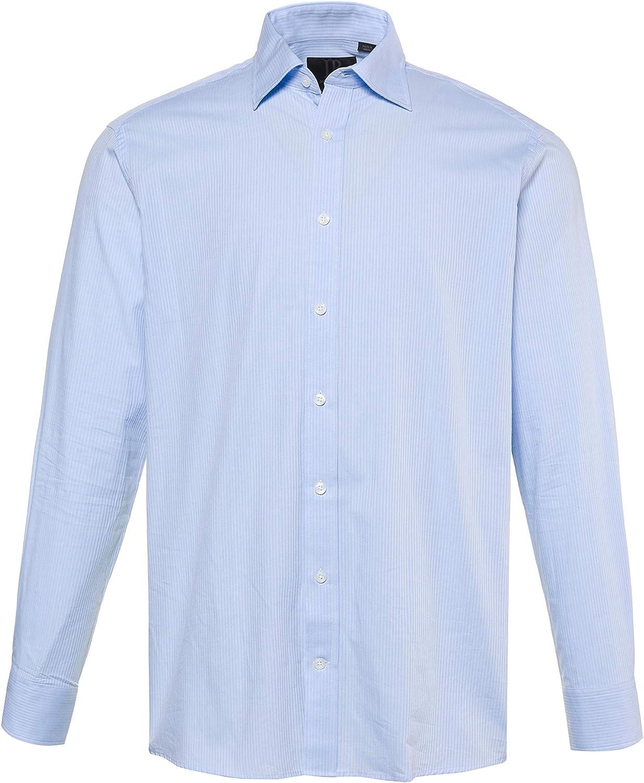 JP 1880 714131 - Camisa de manga larga para hombre, talla hasta 7XL, diseño de rayas, camisa de negocios, cuello y ajuste cómodo: Amazon.es: Ropa y accesorios