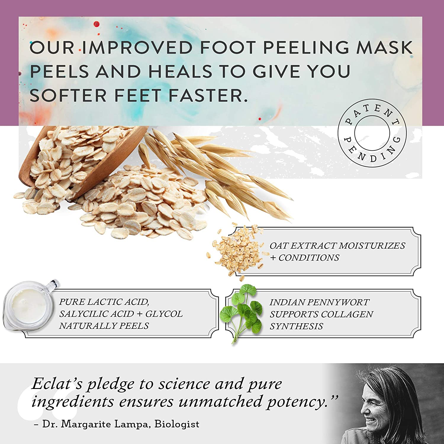 2 Pair Foot Peeling Mask Socks Booties with Natural Oat Extract and Indian Pennywort for Baby Soft Feet Fast in an Easy Use Foot Peel Mask Foot Peeling Mask by Eclat