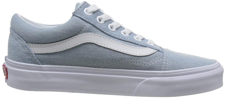 Vans Unisex Old Skool Classic Skate Shoes B076CV7DVT 6 M US Women / 4.5 M US Men|Denim Baby Blue