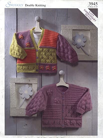 de04bec133e5 Sirdar Knitting Pattern 3945   Baby Child Sampler Cardigans (with or ...
