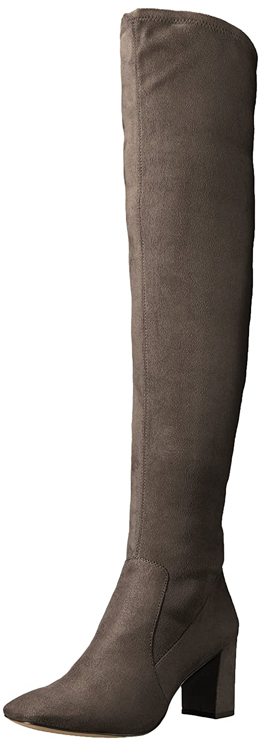 Nine West Women's Xperian B06XH8WBV9 5.5 B(M) US|Dark Grey Stretch Suede Fabric