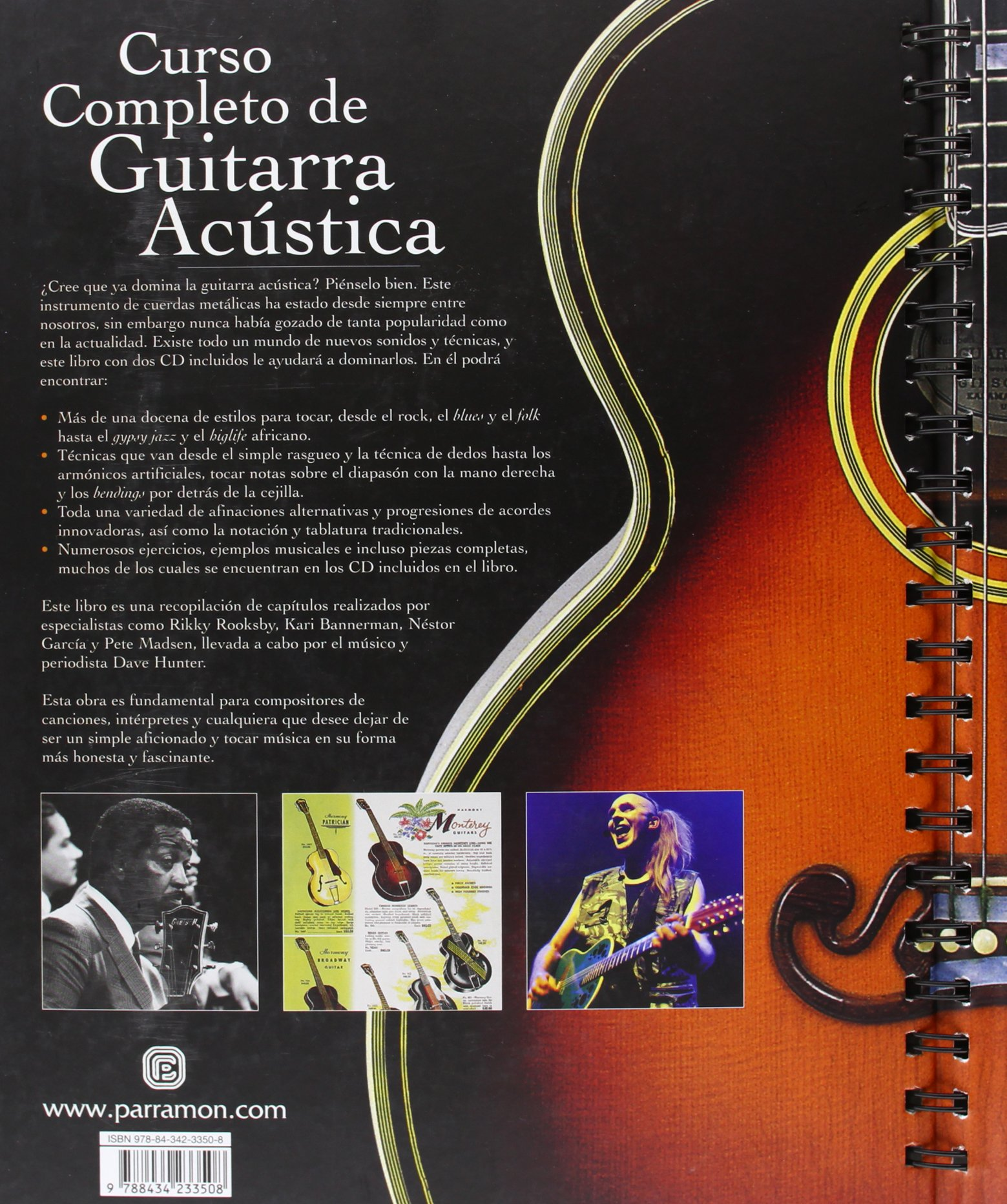 curso completo de guitarra acustica 1 vol 2 cds música amazon