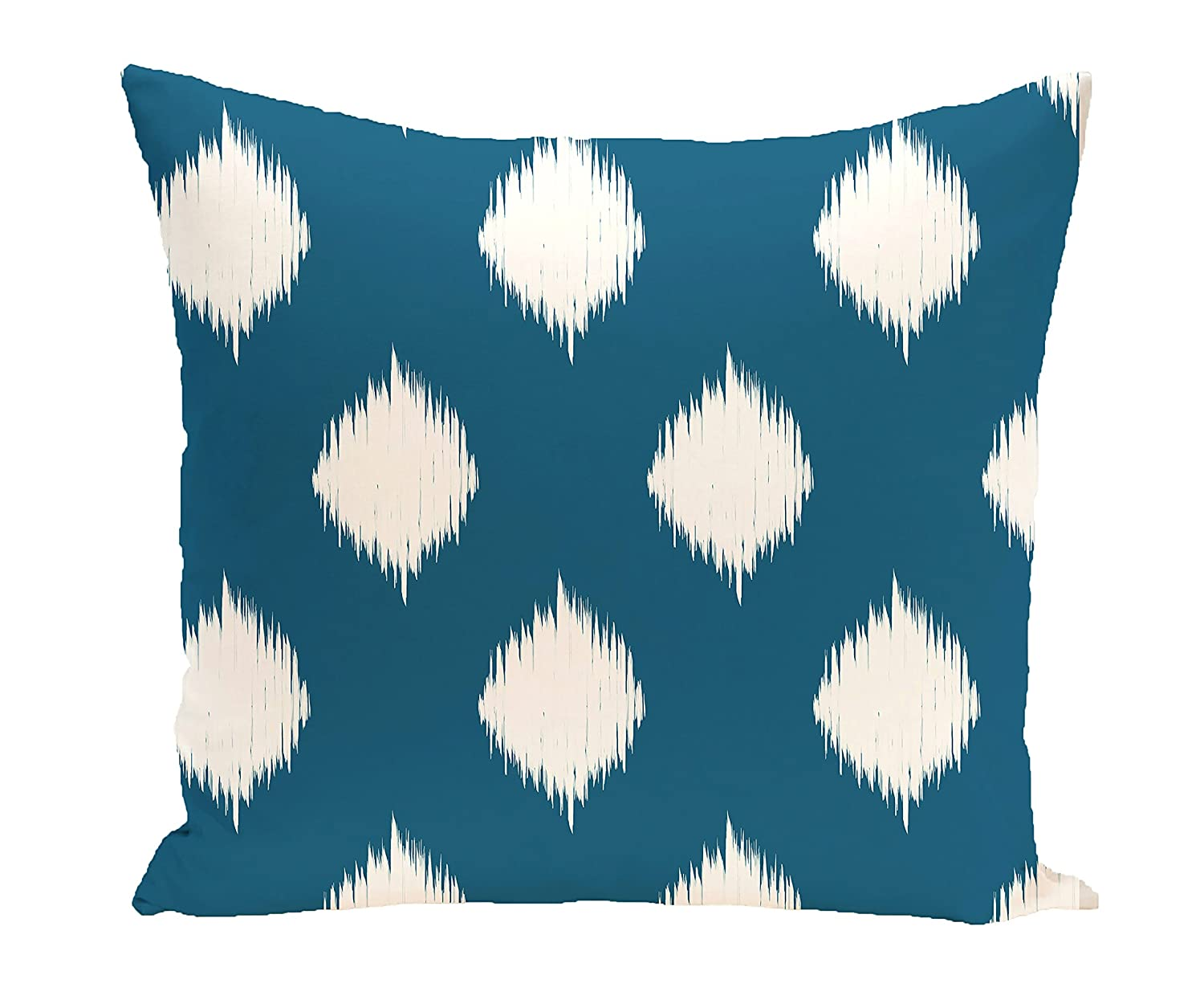 E by design Decorative Pillow Teal, Off White