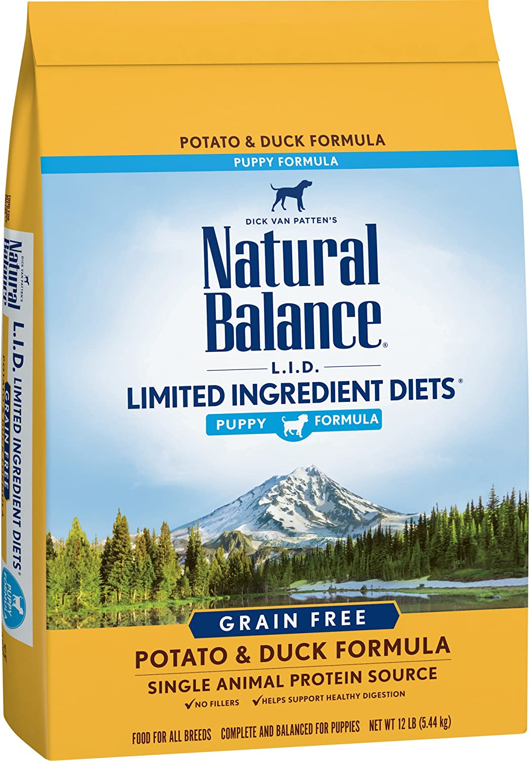 Natural Balance Limited Ingredient Diets Dry Puppy Food, Potato & Duck, 12 Pounds (Discontinued by Manufacturer)