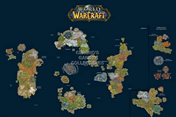 Cgc huge poster world of warcraft world map pc ext185 24 x 36 cgc huge poster world of warcraft world map pc ext185 24 x 36 61cm x 915cm amazon kitchen home gumiabroncs Images