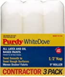 "3 Pack Roller Covers White Dove 9"" x 1/2"" Nap"