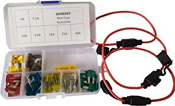 10x 7.5A 7.5Amp Electronic ATM Mini Blade Fuse Car Motorcycle Trucks Bus Fuses