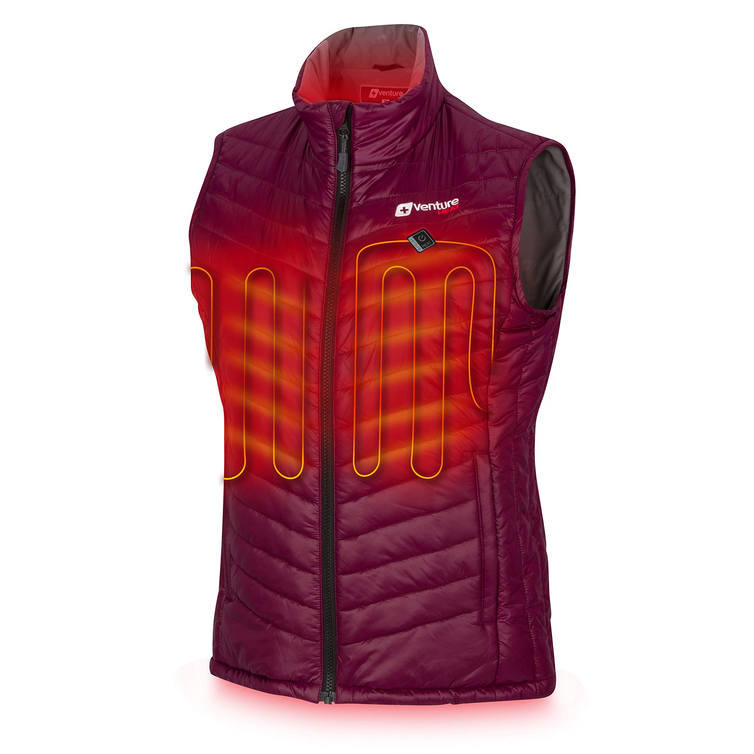 Venture Heat Women's Heated Vest with Battery Pack - Insulated Electric Jacket, Puffer Vest, Roam 2.0 (S, Plum) by Venture Heat