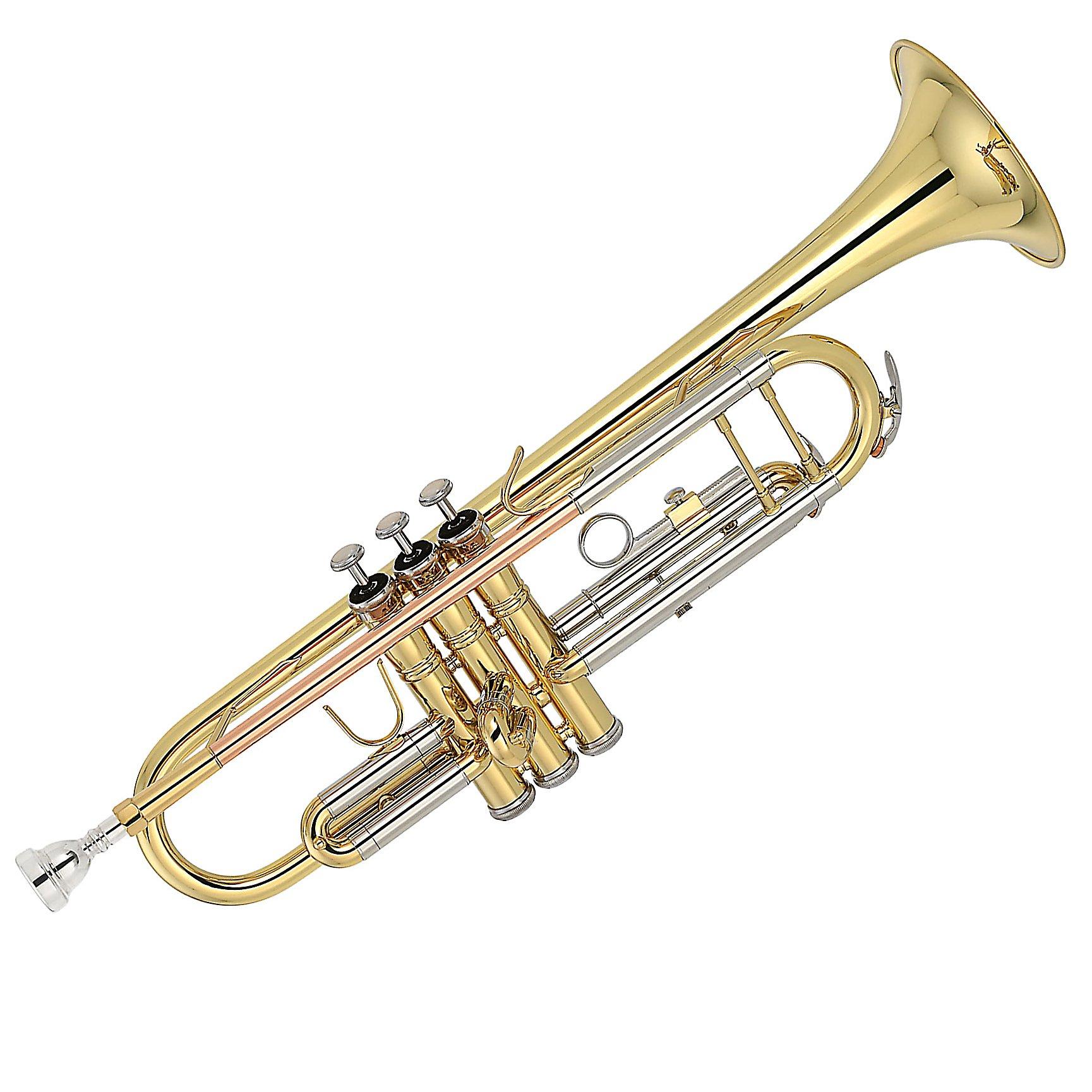 Kaizer TRP-2000LQRC 2000 Series Double Braced B Flat Bb Trumpet - Gold by Kaizer