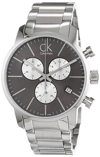 Calvin Klein - Reloj de pulsera hombre, acero inoxidable, color plateado: Amazon.es: Relojes
