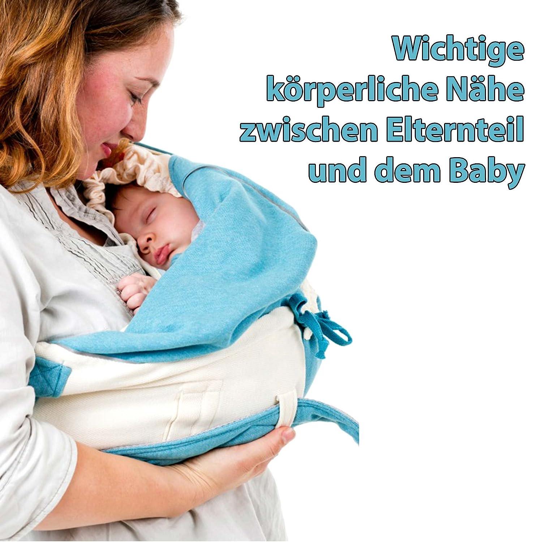 Babytragetuch max. 12kg Babysling sowie Transportdecke ab Geburt bis 18M Lodger Shelter 2.0-3in1 Babytrage