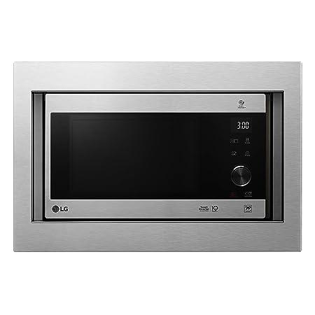 LG MH6565CPST - Microondas grill con tecnología Smart Inverter, kit de encastre, potencia microondas y grill 1450 W, 25 litros de capacidad, display ...