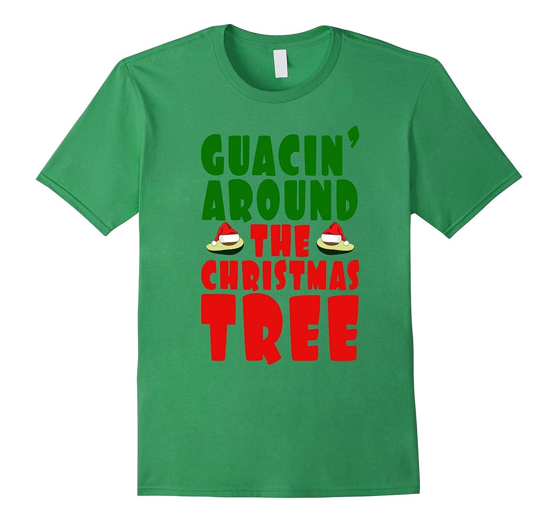Amazon.com: Guacin Around The Christmas Tree Avocado Christmas Tee ...