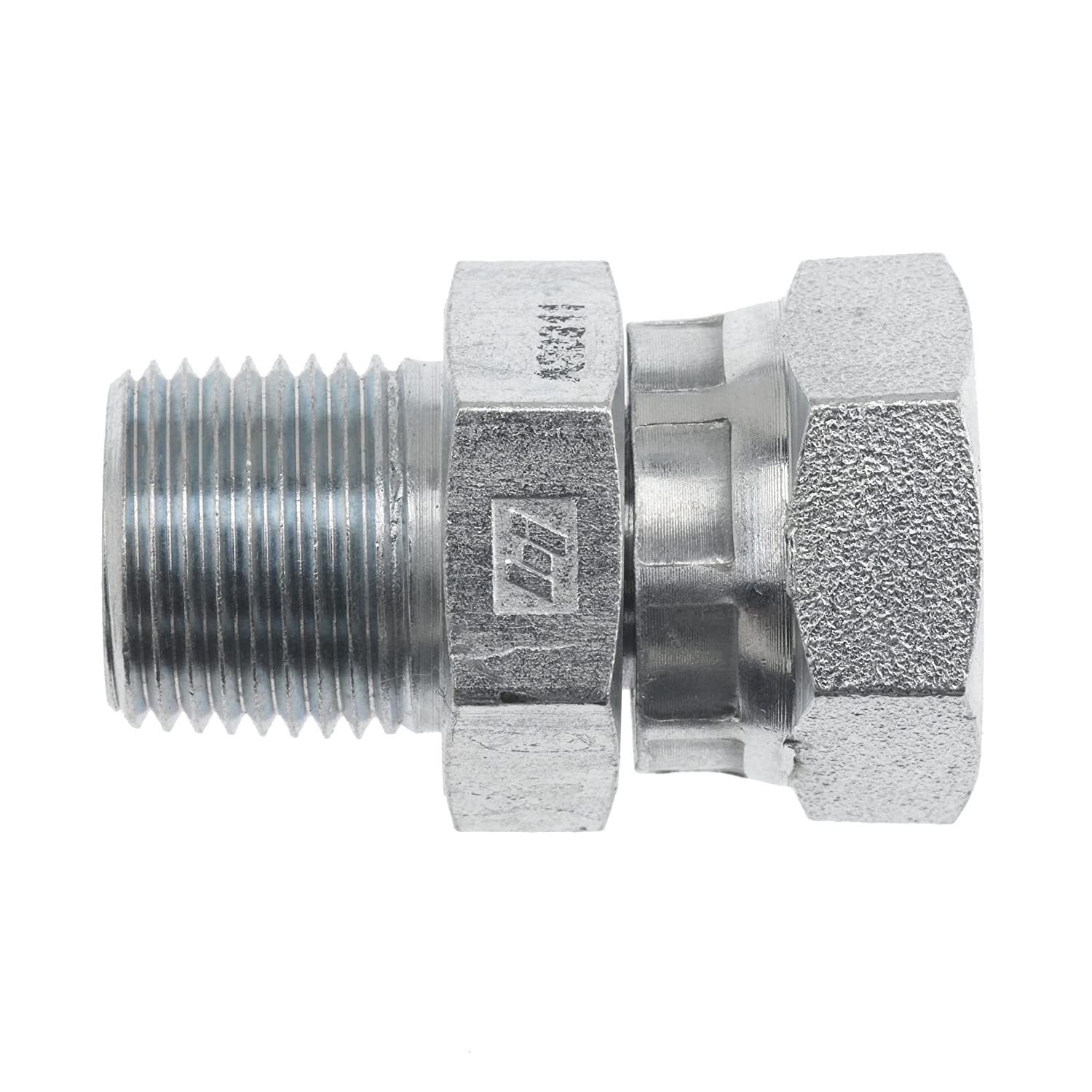 Brennan Industries 1404-12-12-SS Stainless Steel Straight Adapter 3//4-14 Male NPTF x 3//4-14 Female NPSM Thread