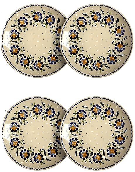 Polish Pottery Orange Blossoms Handmade Dinner Plates 10.5-Inch Set of 4  sc 1 st  Amazon.com & Amazon.com | Polish Pottery Orange Blossoms Handmade Dinner Plates ...
