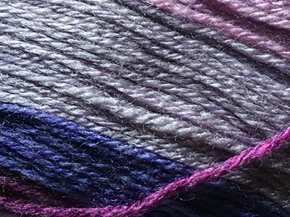 1535 yards Sport weight Reclaimed Recycled Upcycled WoolAcrylic Blend Lilac Purple