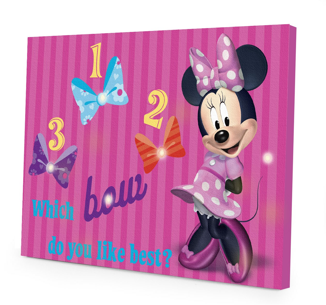 Amazon disney minnie mouse led canvas wall art 1575 inch x amazon disney minnie mouse led canvas wall art 1575 inch x 115 inch toys games amipublicfo Choice Image