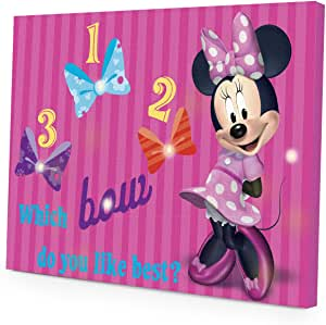 (Inquiries - by email) - Disney Minnie Mouse LED Light Up Canvas Wall Art