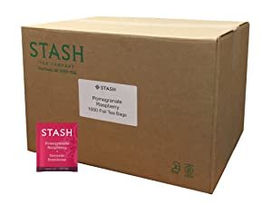 Stash Tea Pomegranate Raspberry Green Tea With Matcha 1000 Tea Bags in Foil Individual Green Tea Bags for Use in Teapots Mugs or Teacups, Brew Hot Tea or Iced Tea