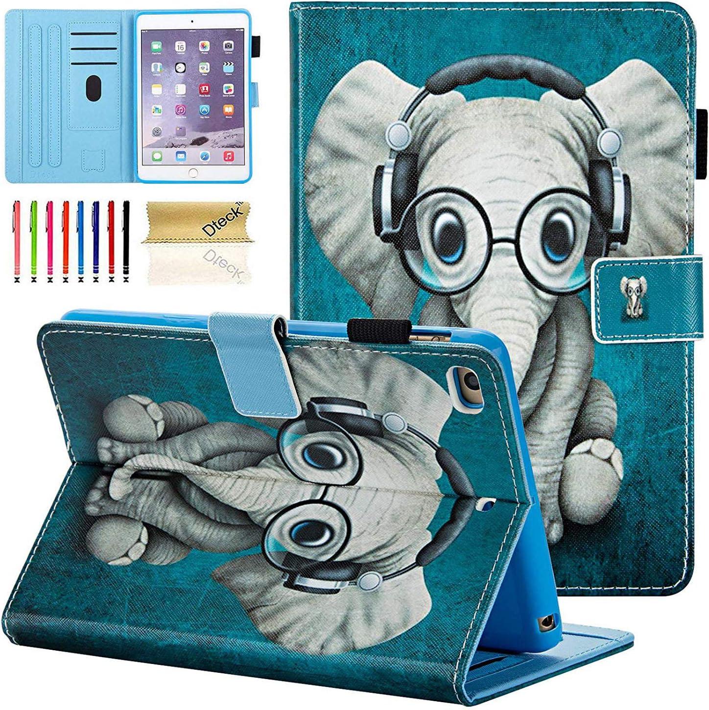 iPad Mini Case, Mini 2/3/4/5 Case, Dteck Slim Fit Multi-Angle View Folio Stand PU Leather Case with Auto Wake/Sleep Smart Cover for Apple iPad Mini 1/ Mini 2/ Mini 3/ Mini 4/Mini 5, Doctor Elephant