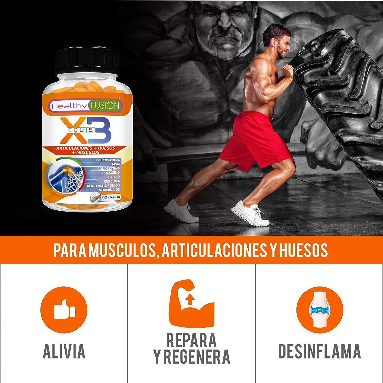 Potente Cúrcuma Orgánica + Colágeno + Condroitina + Glucosamina – Elimina el Dolor en Músculos, Articulaciones y Huesos – Potente Antiinflamatorio – ...