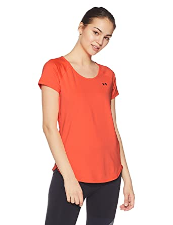 9e41ebad Under Armour HeatGear Armour Cool Switch Short Sleeve Women's Body Blouse  Top (1294068_London Orange_X-