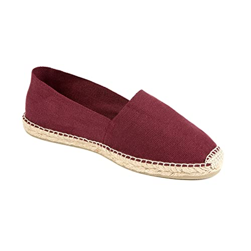weltenmann | Alpargatas Slip-on clásicas para Hombre en algodón, Burdeos 46: Amazon.es: Zapatos y complementos