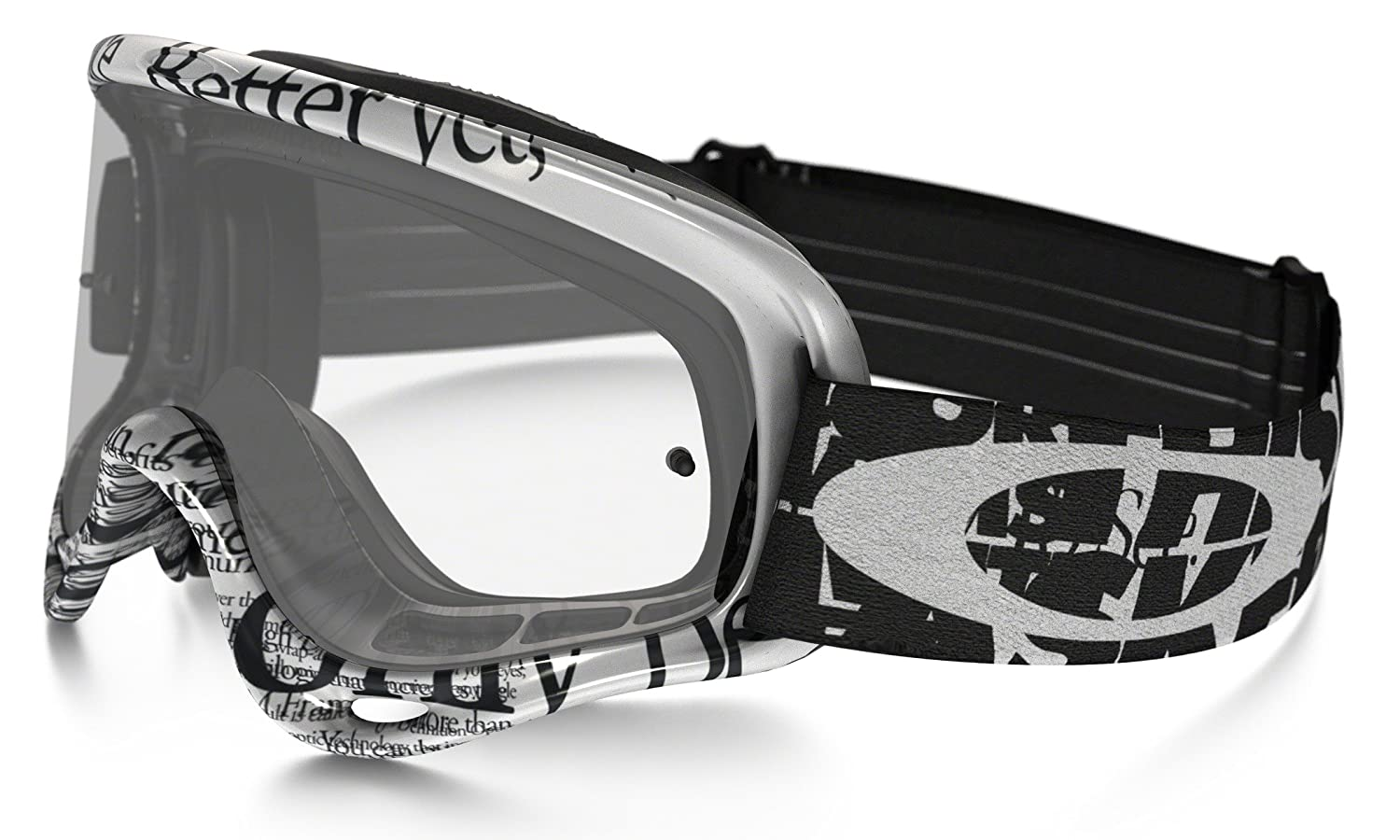 Amazon.com: Oakley O-Frame MX Tagline Goggles (White Frame/Clear ...