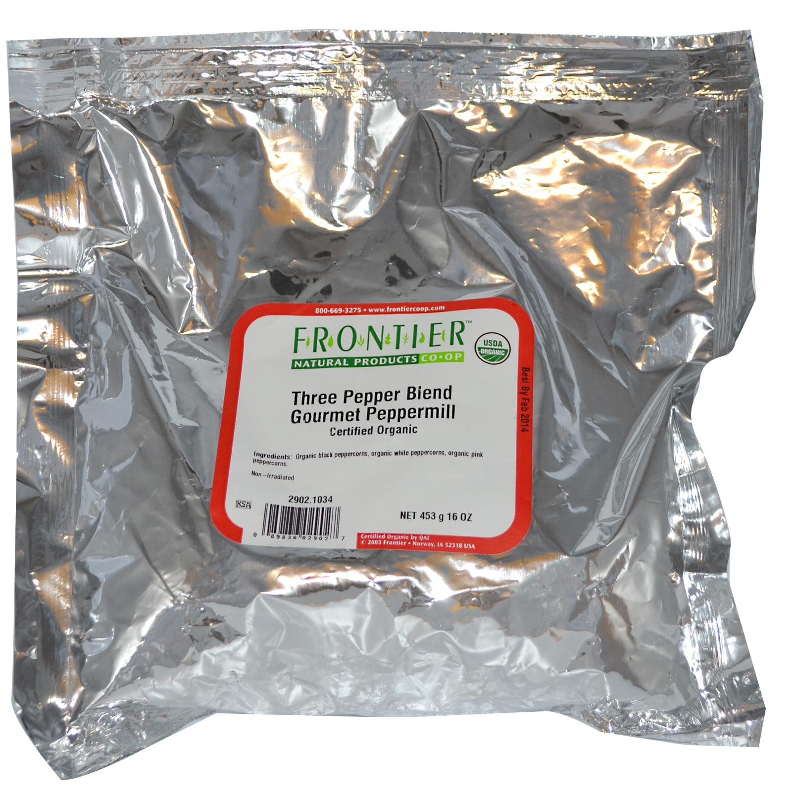 Frontier Natural Products Organic Three Pepper Blend -- 1 lb