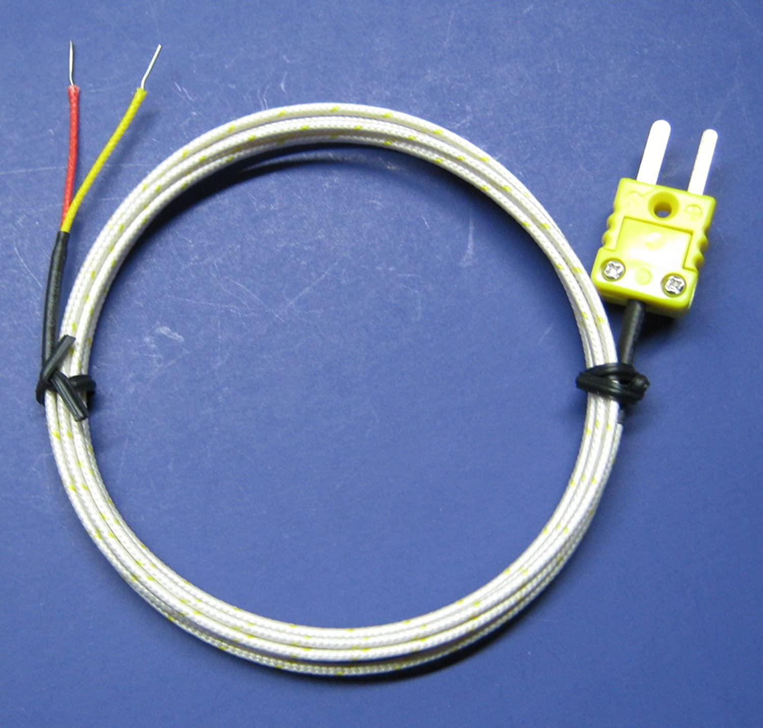 K-type Hookup Connector Cable for High Temperature Kiln and Furnace K-Type Thermocouples