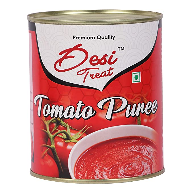 Desi Treat Tomato Puree (Made with Farm Fresh Tomatoes), 825 g