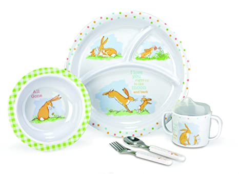 Kids Preferred Guess How Much I Love You - 5 Piece Melamine Set  sc 1 st  Amazon.com & Amazon.com: Kids Preferred Guess How Much I Love You - 5 Piece ...