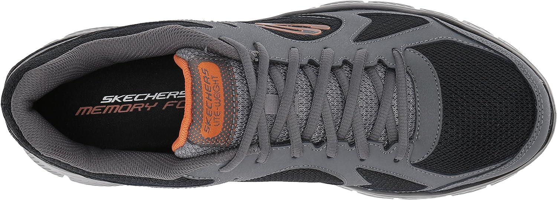 Skechers Men's 58352 Trainers Grey Charcoal Black