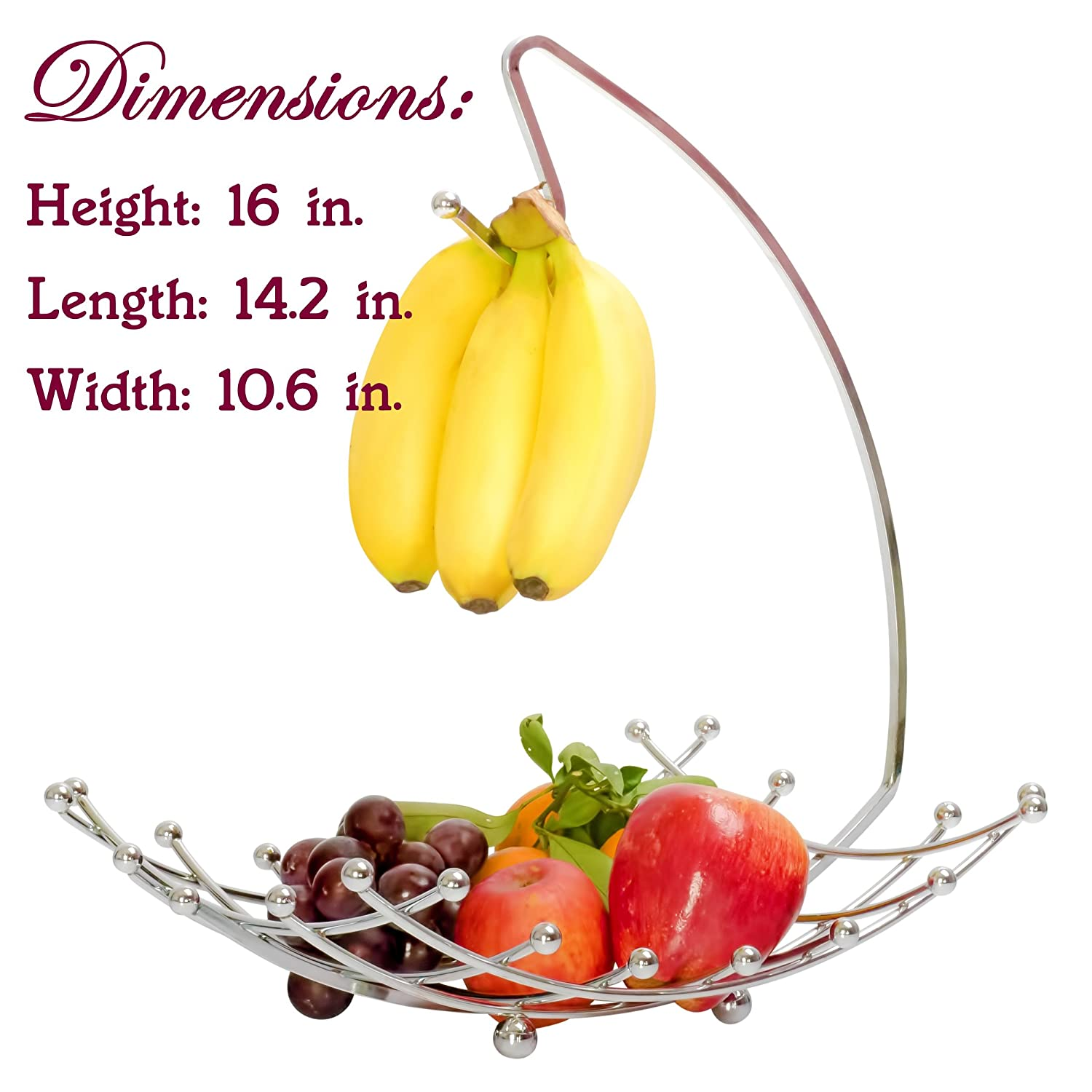 Fruit Basket with Banana Holder, Luxe Premium\'s High Quality Wire ...