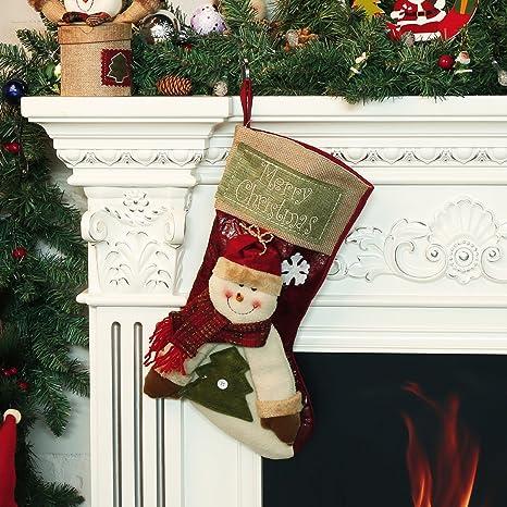 christmas stocking moonmini 3d big size xmas socks classic cute christmas hanging decoration stockings - Big Christmas Stockings