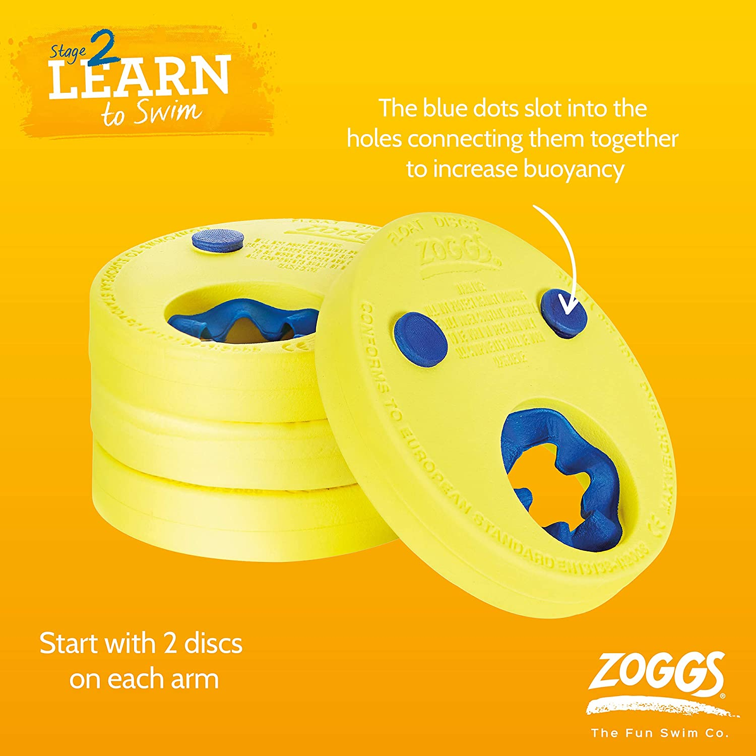 Zoggs Kids/' Swimming Bands Learn to Swim Stage 2 Green 1-6 yrs