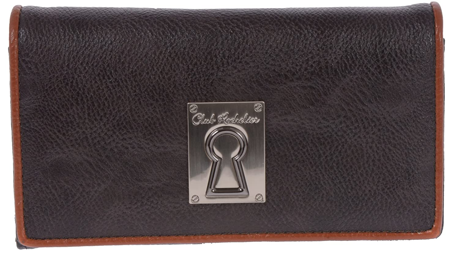 1bcf81f97843 Club Rochelier Women's Expandable Clutch Wallet (Brown): Amazon.ca ...