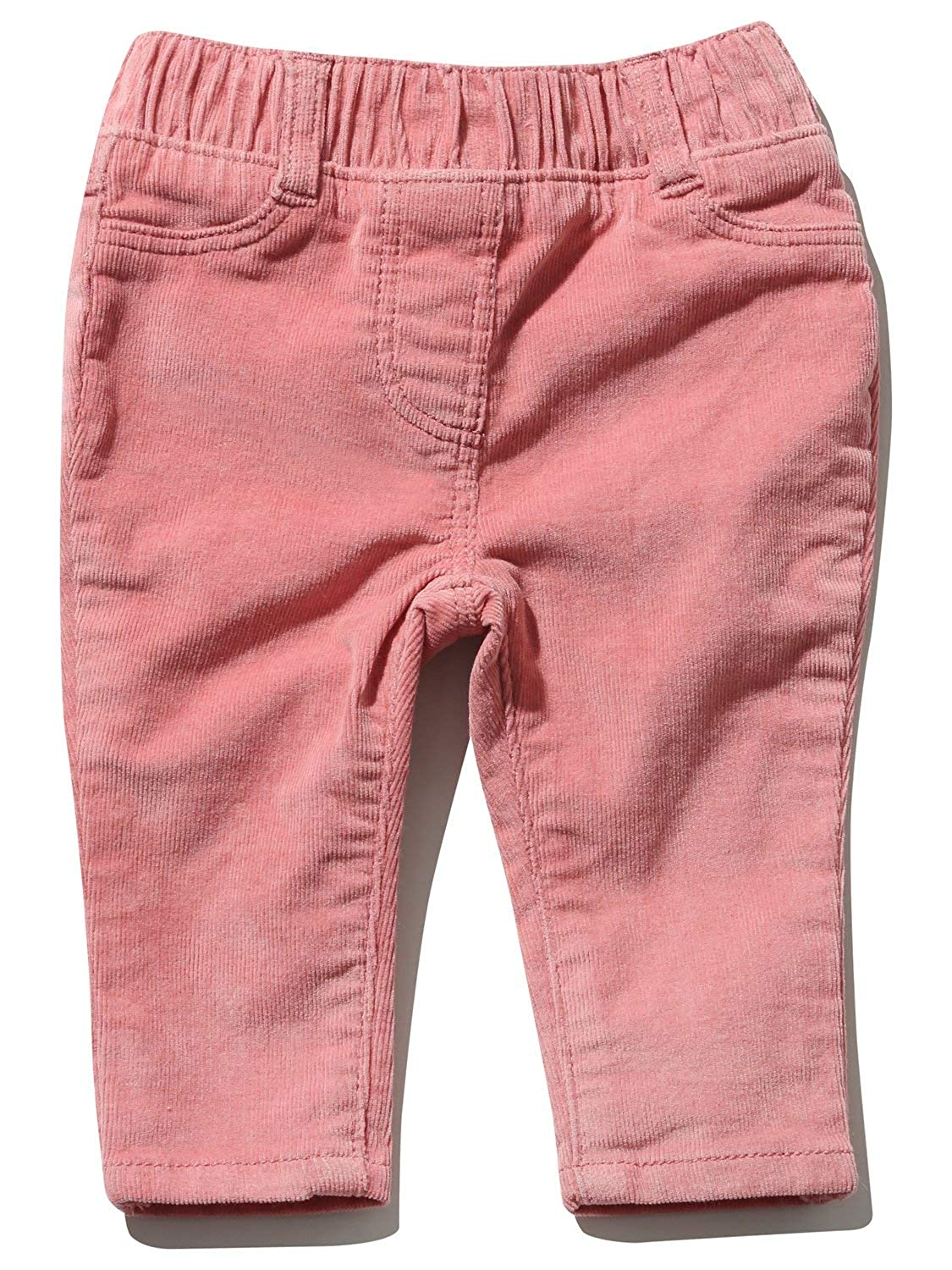 M& Co Baby Girl Cotton Rich Pink Cord Stretch Waistband Full Length Jeggings
