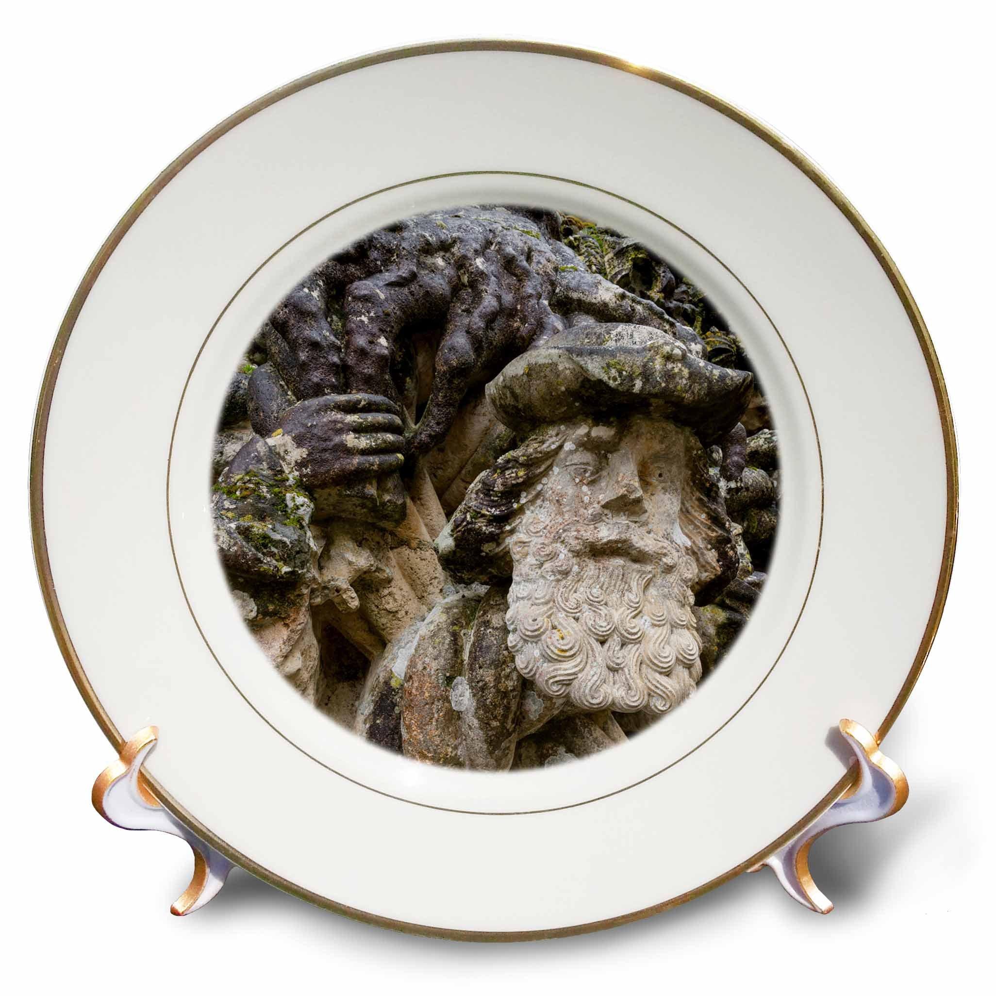 3dRose Danita Delimont - Religion - Face sculpture, Manueline Window, Convent of Christ, Tomar, Portugal - 8 inch Porcelain Plate (cp_277808_1)