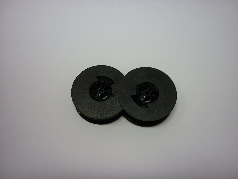Olivetti Lettera 36 Typewriter Ribbon 2 Pack - Black// Red 1 Solid Black + 1