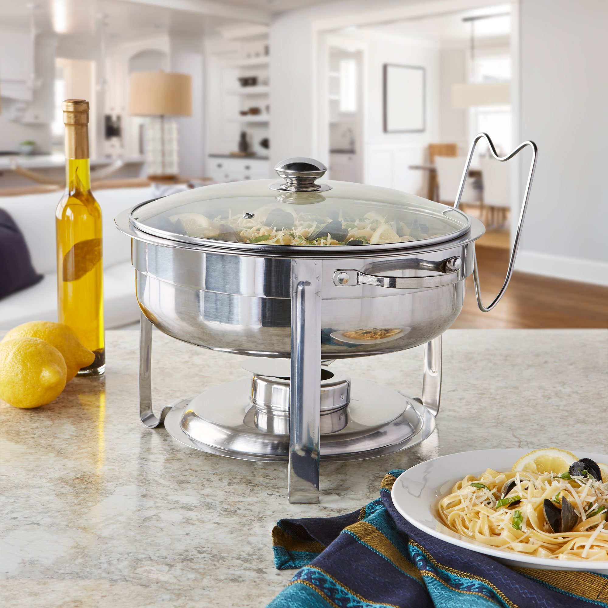 Artisan Stainless Steel Round Buffet Chafer with Glass Lid, 4-Quart Capacity by Artisan (Image #6)