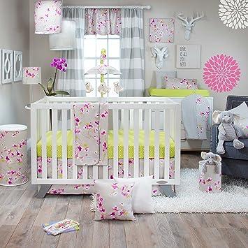 glenna jean blossom 3 piece crib bedding set