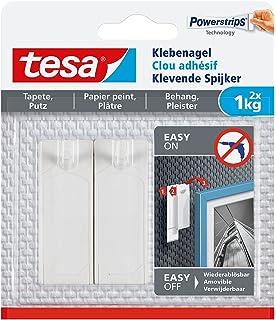 tesa Klebenagel f/ür Tapeten und Putz 0,5 kg Halteleistung 0,5 kg - 4 N/ägel