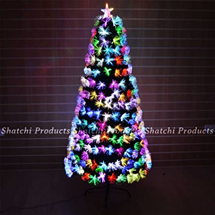 0009c53347f0a 6ft 180cm Fibre Optic Christmas Tree Multi Colour Changing with Various  Effects Xmas Decoration  Amazon.co.uk  Kitchen   Home
